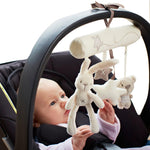 Rabbit baby hanging bed safety seat plush toy Hand Bell Multifunctional