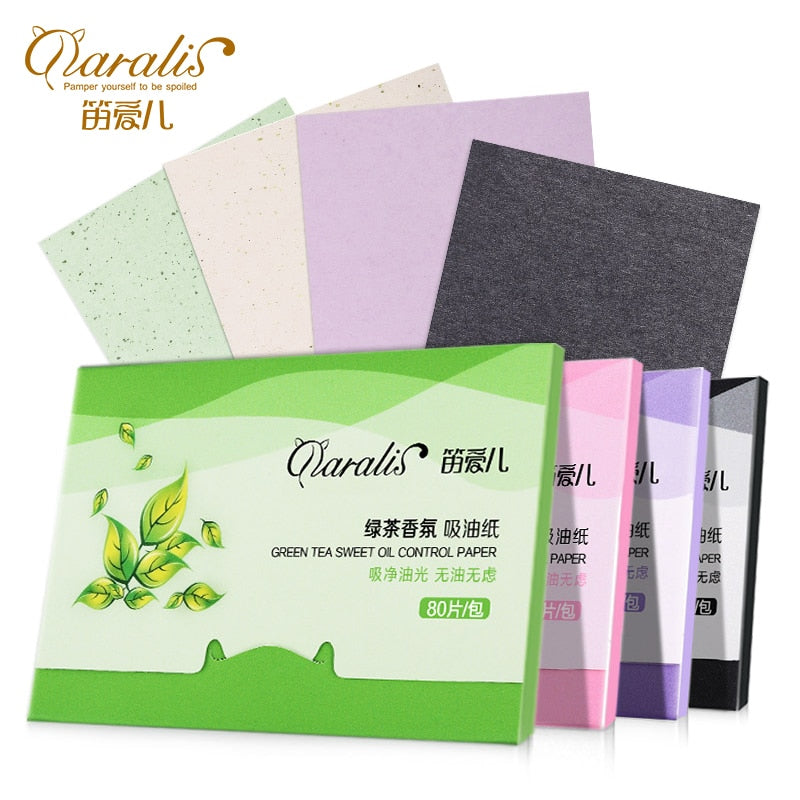 Protable Facial Absorbent Paper Oil Control Wipes Green Tea Absorbing Sheet Matcha Oily Face Blotting Matting Tissue