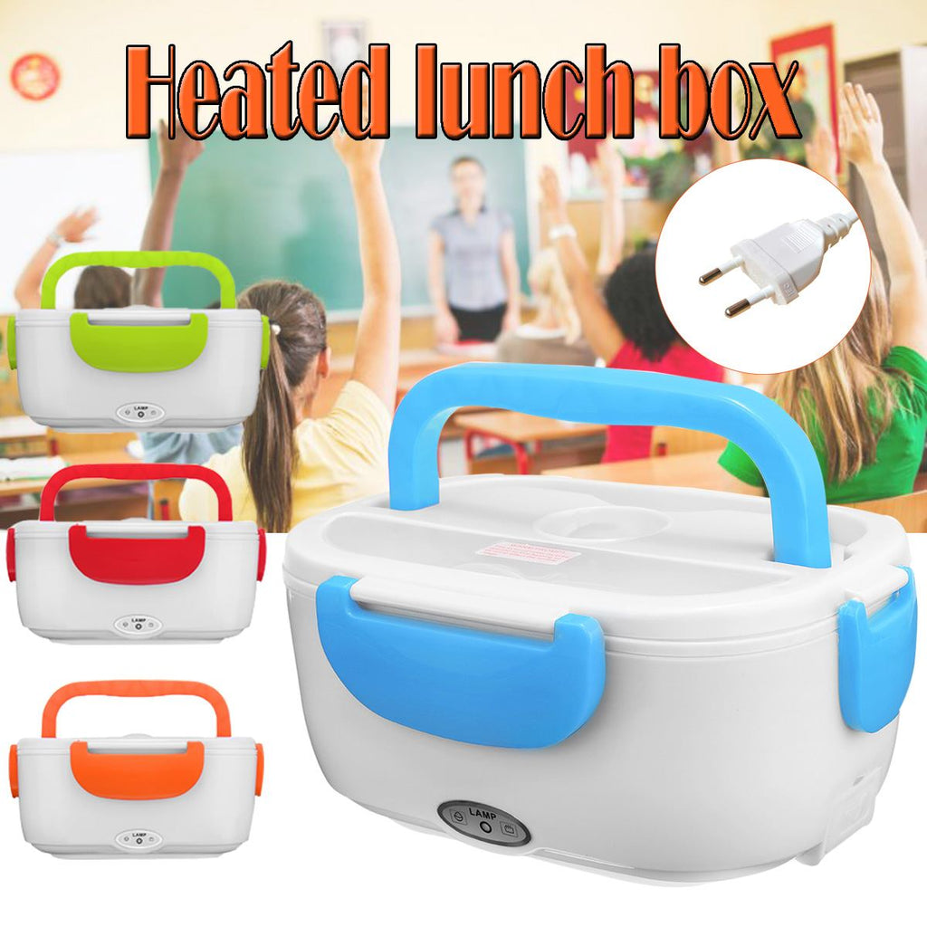 220V 1.2L Portable Electric Heating Lunch Box Bento Storage Heating Rice Container Food Warmer Office School Lunchbox