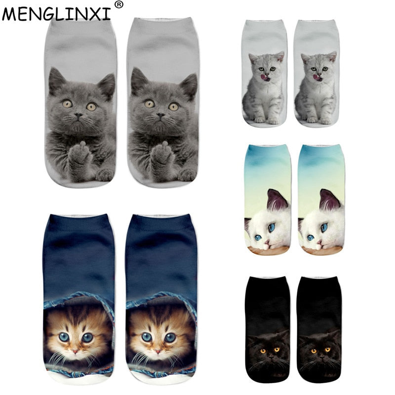 2019 New HOT 3D Printing Women Socks Brand Sock Fashion Unisex