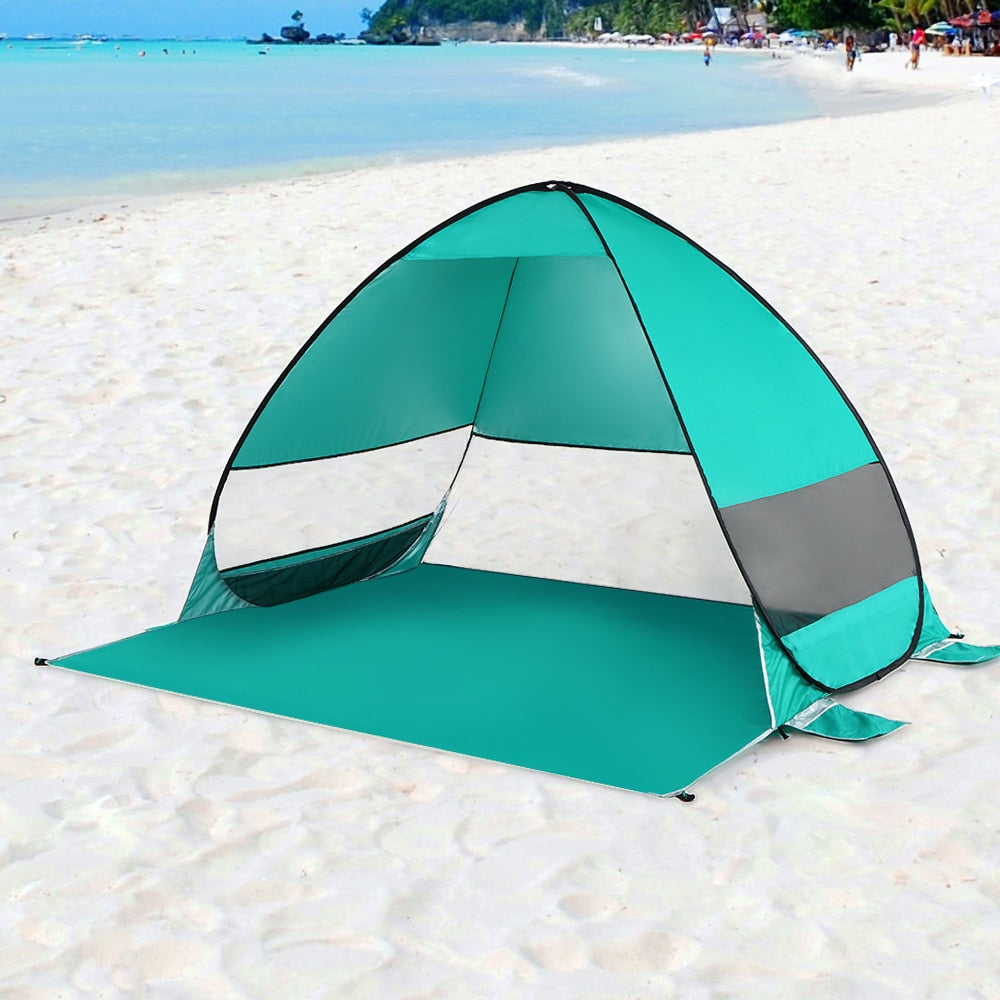 Automatic Pop Up Beach Tent Cabana Portable UPF 50+ Sun Shelter Camping Fishing Canopy Outdoor Camping Hiking Tents