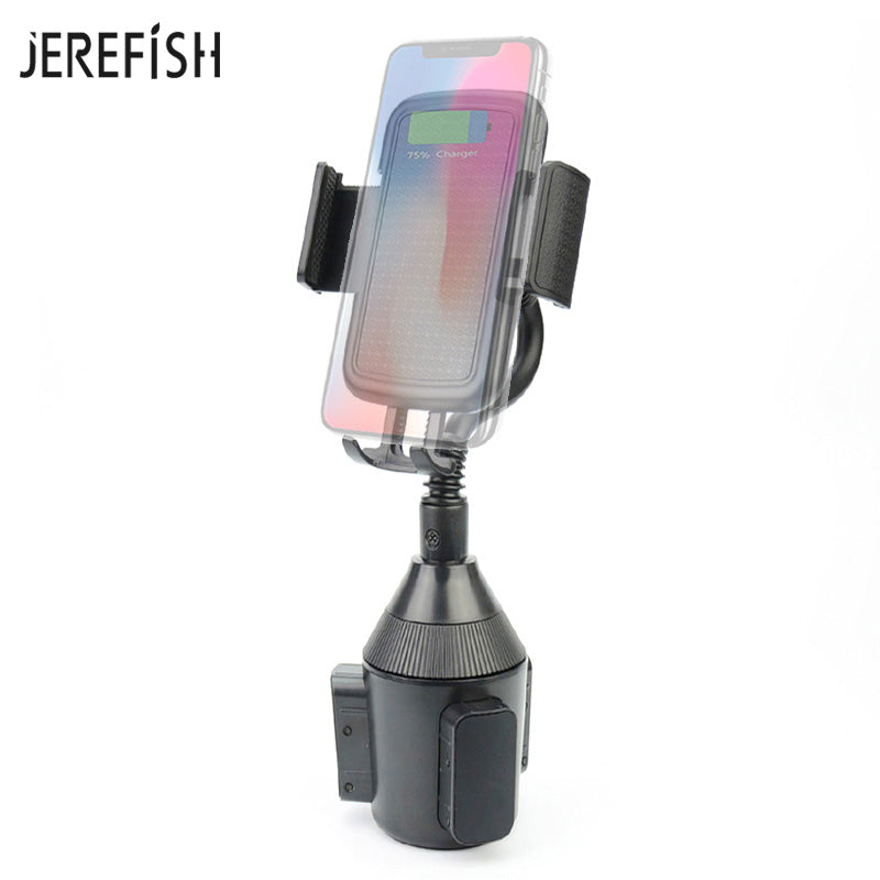 JEREFISH Universal Car Phone Holder Car Cup Mount for iPhone Android Huawei Xiaomi 360 Degree Rotation Car Holder Clip