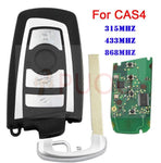 4 Buttons Smart Remote Car Key Fob for BMW F CAS4 5 Series 7 Series Uncut Blade 315MHz 433MHz 868MH 7953