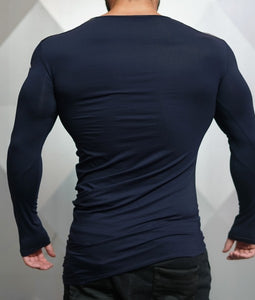 Body Engineers - DC – Enigma Long Sleeve - Navy Blue - Rückseite