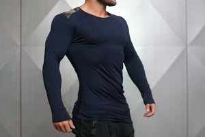 Body Engineers - DC – Enigma Long Sleeve - Navy Blue - Seitlich 1