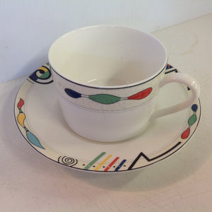 Vintage Mikasa Ultima Super Strong Fine China Headline Pattern Cup and Saucer