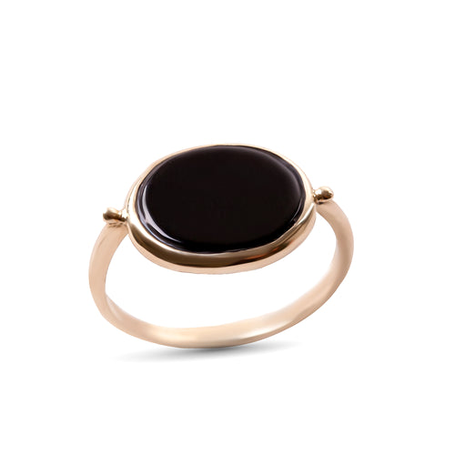14K gold Oval ring with stone