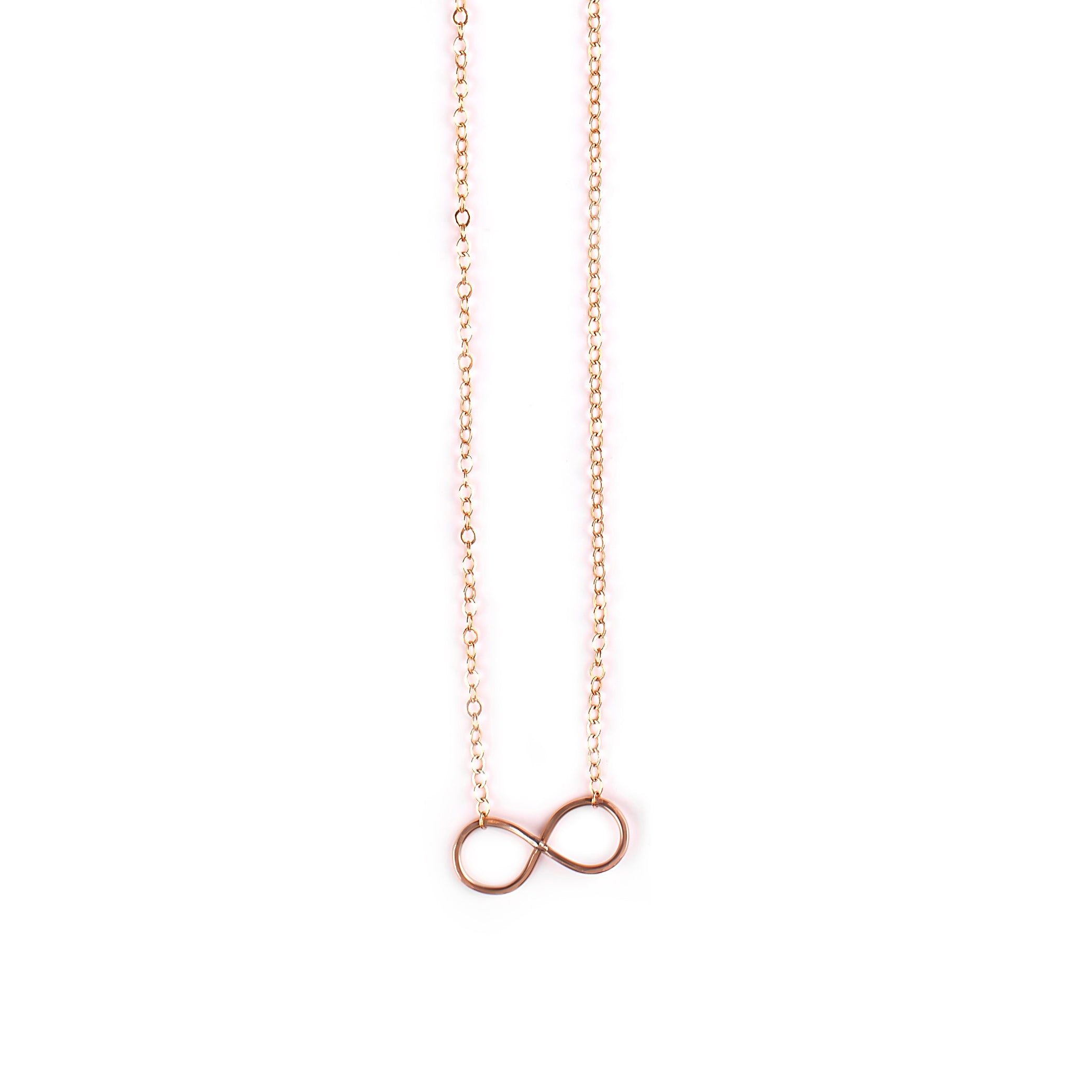 Goldfilled / black silver necklace with Infinity / heart pendant