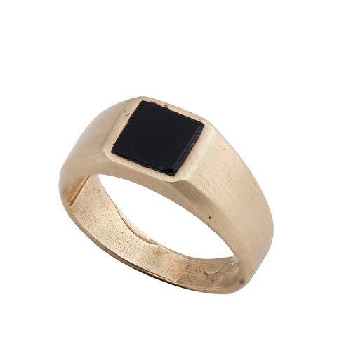 14K gold Seal ring with onyx stone