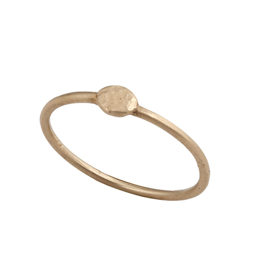 14K gold ring with Gold point