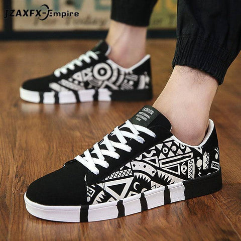 Casual Canvas Shoes Fashion Print Summer Sneakers
