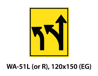 Warning Sign - WA-51L (or R)