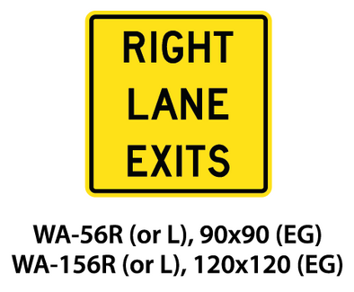 Warning Sign - WA-56R (or L) / WA-156R (or L)