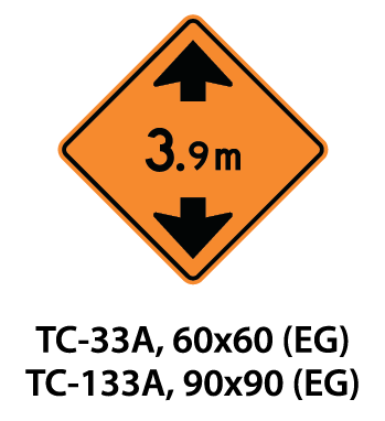 Temporary Conditions Sign - TC-33A / TC-133A