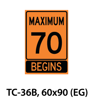 Temporary Conditions Sign - TC-36B