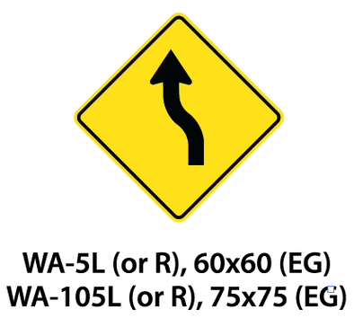 Warning Sign - WA-5L (or R) / WA-105L (or R)