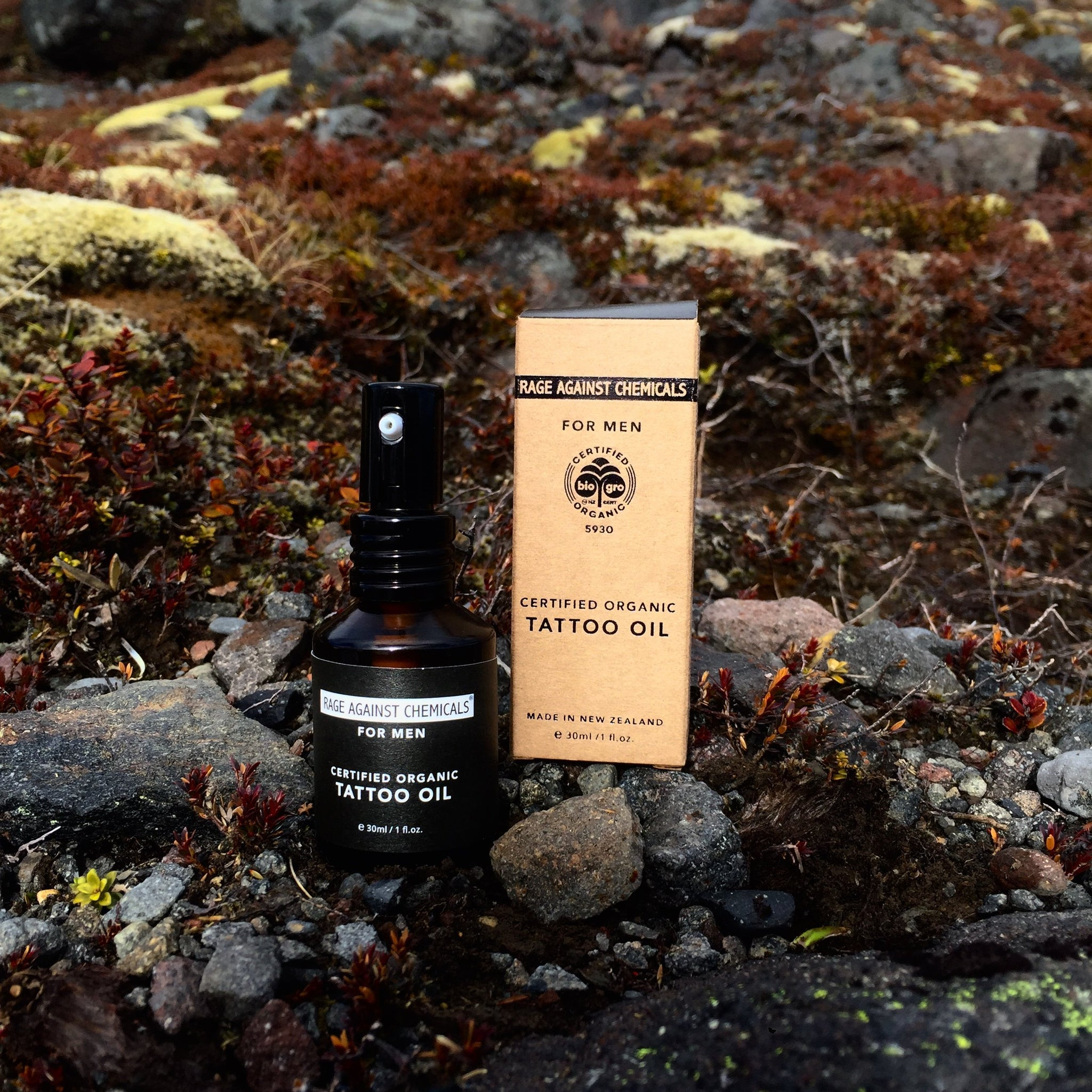 Tattoo Oil For Men - Certified Organic - Rage Against Chemicals