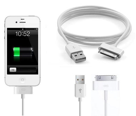 USB Charger Cable for iPhone 4/4S iPad iPod