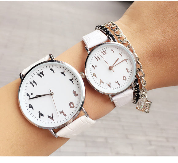 Arabic Leather Watches for him and for her