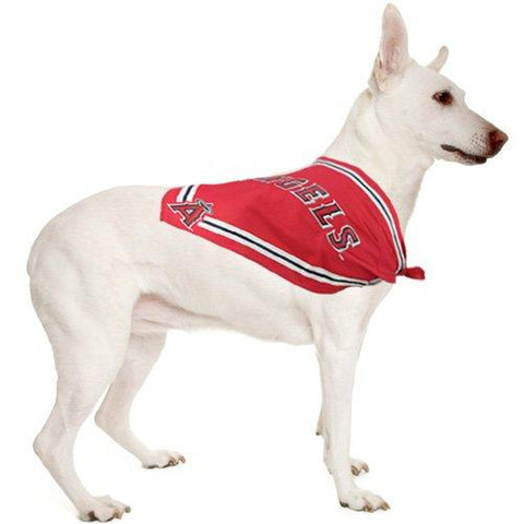 Anaheim Angels Dog Bandana SMALL-DOG-Sporty K9-SMALL-Pets Go Here bandana, dc, m, mlb, red, s, s/m, sports, sports bandana, sporty k9 Pets Go Here, petsgohere
