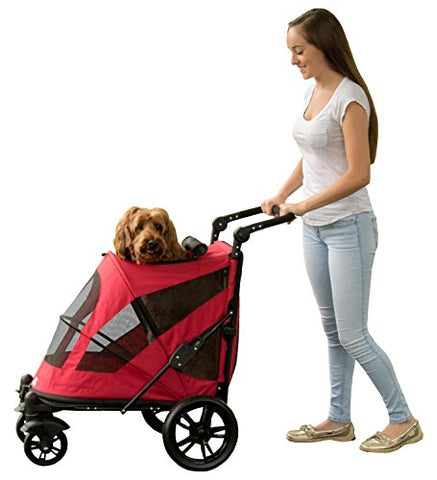 Pet Gear Excursion Pet Stroller-DOG-Pet Gear-CANDY RED-Pets Go Here blue, cat, dog, gray, light pink, navy, new, pet gear, pink, red, stroller Pets Go Here, petsgohere