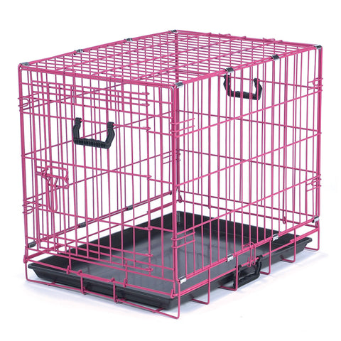 Crate Appeal Fashion Color Dog Crate PINK Punch blue, cat, crate, crate appeal, dog bedding, dog crate, l, lime, m, pink, s, wire, xl, xs Pets Go Here, petsgohere