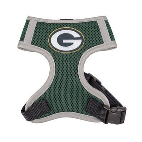 Green Bay Packers Dog Harness Vest-DOG-Hip Doggie-X-LARGE-Pets Go Here green, harness, hip doggie, hunter, hunter green, l, m, nfl, nfl harness, reflective, s, sports, sports harness, vest, xl, xs Pets Go Here, petsgohere