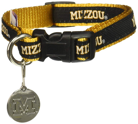 NCAA Missouri Tigers Dog Collar EMBROIDERED missouri tigers, mizzou, ncaa, ncaa collar, sports, sports collar Pets Go Here, petsgohere