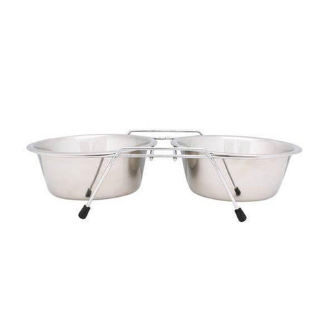 Proselect Chrome Wire Frame Elevate Dog Bowl-DOG-Pets Go Here-Pets Go Here black, bowl, dog bowl, elevated, guardian gear Pets Go Here, petsgohere