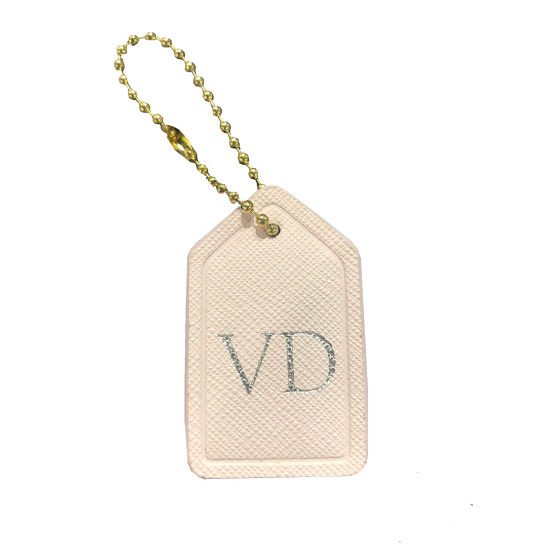 Mini Bag Tag in Blush Pink