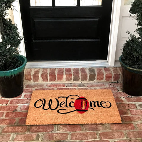 New Natural Coir Non Slip for Football lovers Entrance Door Mat Indoor / Outdoor + FREE Rubber Mat ($20 Value)