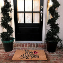 New Natural Coir Non Slip No Place Like Home Floor Entrance Door Mat Indoor / Outdoor + FREE Rubber Mat ($20 Value)