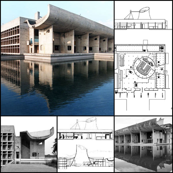 【World Famous Architecture CAD Drawings】Palace of Assemble-Le Corbusier