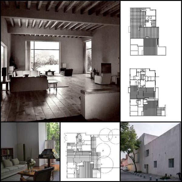 【World Famous Architecture CAD Drawings】Luis Barragan House and Studio-Luis Barragan