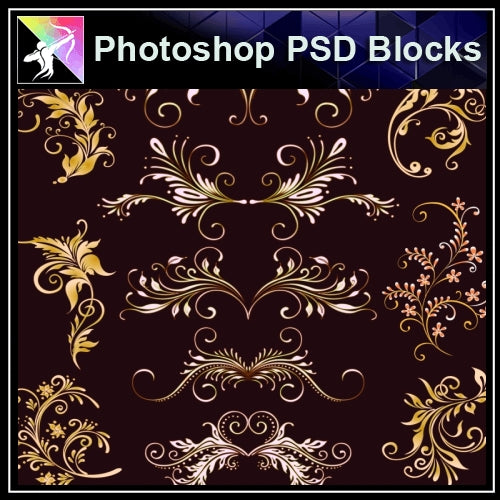 ★Photoshop PSD Decorative Elements V16-PSD Decorative Elements,Skirting Board,Corner Post,Neoclassicism Decor,Baroque elements