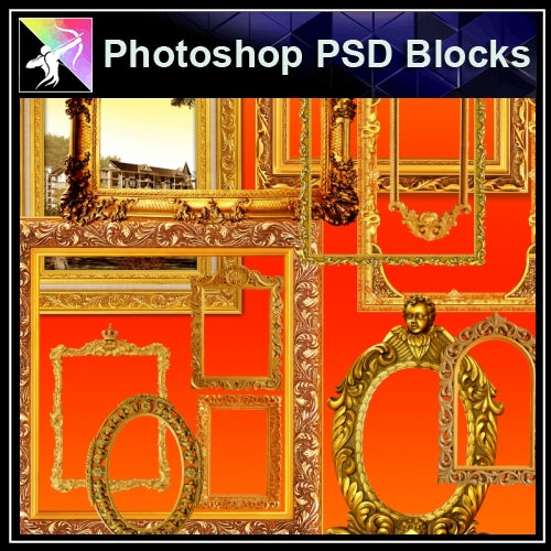 ★Photoshop PSD Decorative Elements V8-PSD Decorative Elements,Skirting Board,Corner Post,Neoclassicism Decor,Baroque elements