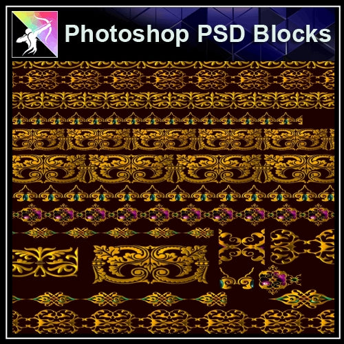 ★Photoshop PSD Decorative Elements V9-PSD Decorative Elements,Skirting Board,Corner Post,Neoclassicism Decor,Baroque elements