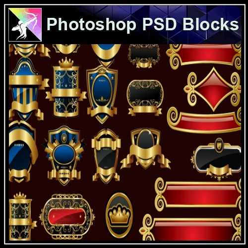 ★Photoshop PSD Decorative Elements V10-PSD Decorative Elements,Skirting Board,Corner Post,Neoclassicism Decor,Baroque elements