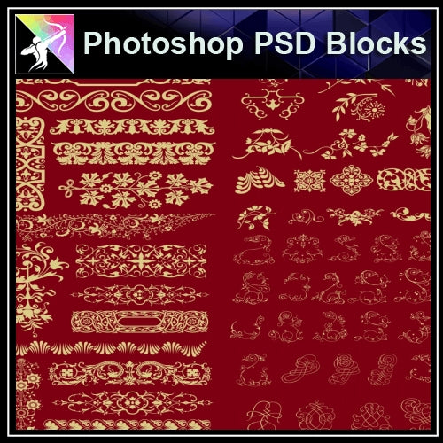 ★Photoshop PSD Decorative Elements V6-PSD Decorative Elements,Skirting Board,Corner Post,Neoclassicism Decor,Baroque elements