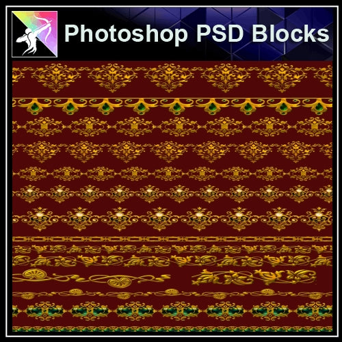 ★Photoshop PSD Decorative Elements V11-PSD Decorative Elements,Skirting Board,Corner Post,Neoclassicism Decor,Baroque elements