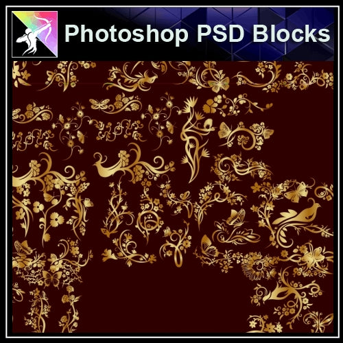 ★Photoshop PSD Decorative Elements V21-PSD Decorative Elements,Skirting Board,Corner Post,Neoclassicism Decor,Baroque elements