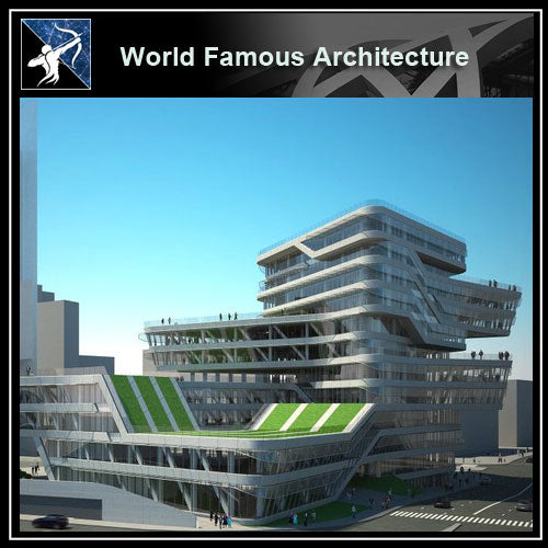 【World Famous Architecture CAD Drawings】Spiral tower, barcelona, by zaha hadid, CAD 3D model