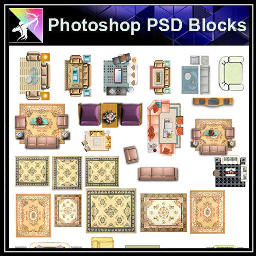 【Photoshop PSD Blocks】Sofa Blocks