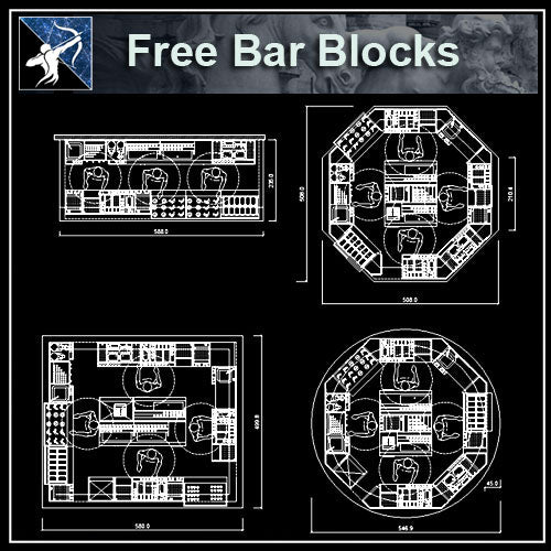 【Architecture CAD Projects】Bar,Pub CAD Blocks,Plans,Elevation