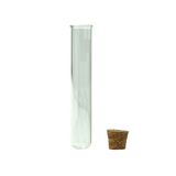 120 mm Glass Pre-Roll Tubes Round Bottom Cork Stopper - 100 units - weed packaging and beyond