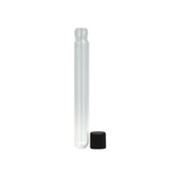 125 mm Glass Pre-Roll Tubes Black Cap - 100 units - weed packaging and beyond
