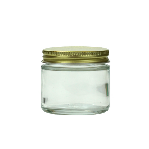 2 oz Glass Jars with Gold Cap - 100 units - weed packaging and beyond