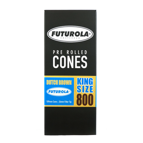 Futurola Pre-Rolled Cones Dutch Brown King Size 109 mm - 800 units - weed packaging and beyond