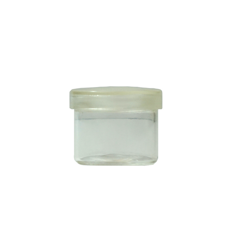 6 ml No Neck Glass Concentrate Containers Clear Cap - 100 units - weed packaging and beyond