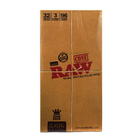Raw Pre-Rolled Cones Classic King Size - 32 units - weed packaging and beyond